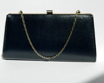 Vintage 1970s F Navy Evening Bag Converts into Clutch