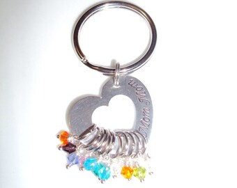 Personalized Heart / Mothers Heart / Grandmothers Heart /Grandchildren / Birthstones / Grandbabies / Customized