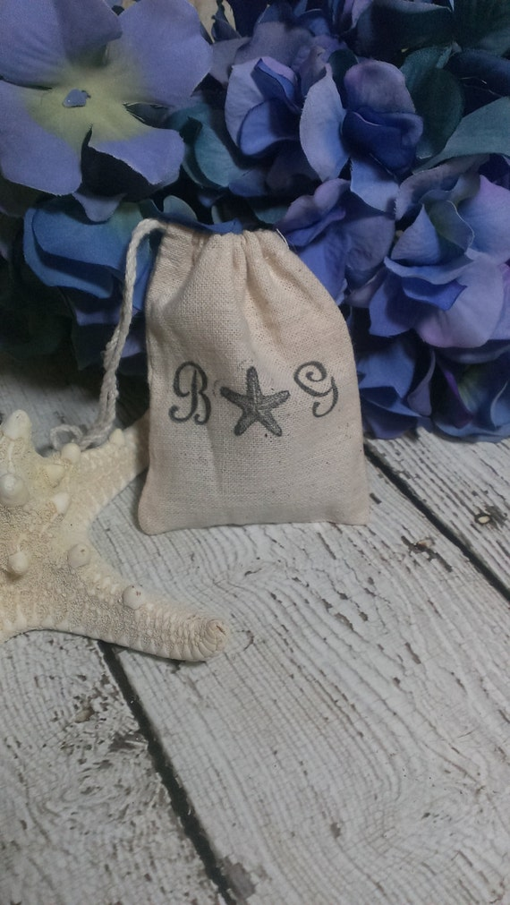 Wedding Gift Bags For Beach Wedding : Beach wedding favor bags, nautical wedding, wedding favors
