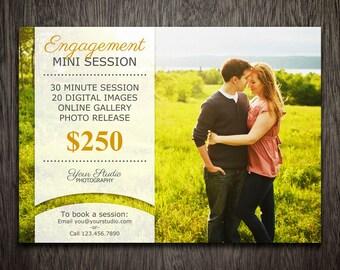 Photography Marketing Template - Photoshop Template for Photographers - Photography Template Engagement - Flyer Postcard Newsletter MT001