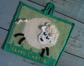 Larry Lamb potholder pattern - INSTANT DOWNLOAD