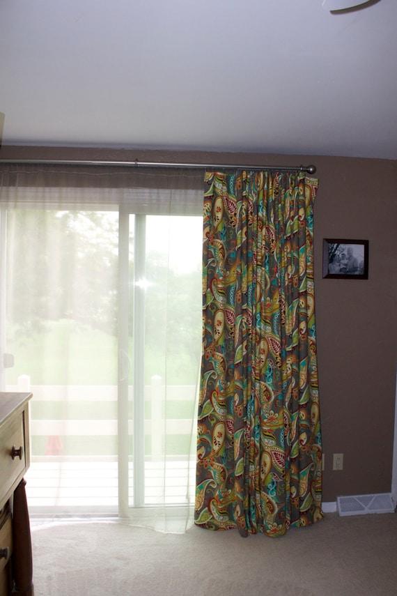 Items similar to Patio or Sliding Door Curtain Panel