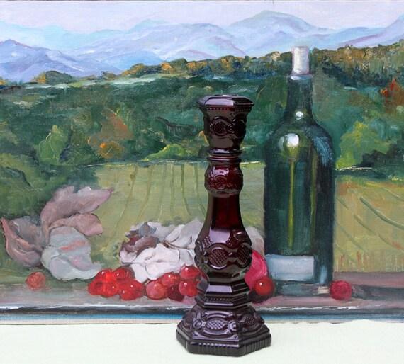 Avon Cape Cod Collection Cologne Bottle. Ruby Red Cape Cod