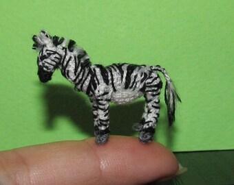 Miniature crochet animal crochet zebra miniature zebra wild animal jungle animal crochet zebra