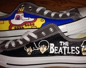 The Beatles Hand Painted Converse Shoes
