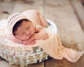 Made-To-Order - vintage inspired rag / fabric basket, prop for newborn photography