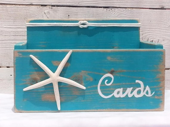 Nautical Wedding Gift Card Holder : Card Wedding Box Holder Starfish with Nautical Knot Beach Nautical ...