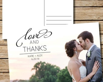 Thank You Wedding Postcard