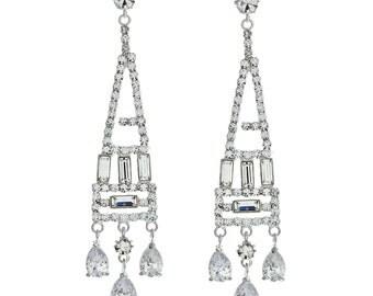 Statement Art Deco Chandelier Earrings