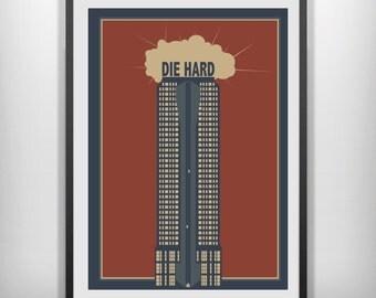 Die Hard minimal minimalist movie film print poster