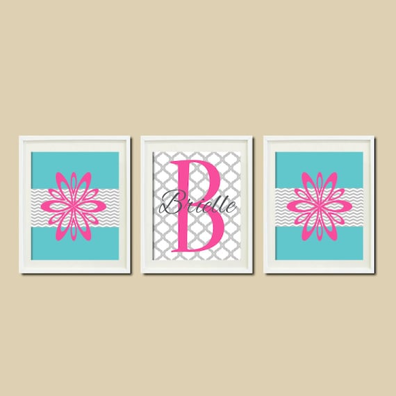 Items similar to TEEN Room DECOR Floral Chevron Monogram  ~ 170956_Etsy Dorm Room Ideas