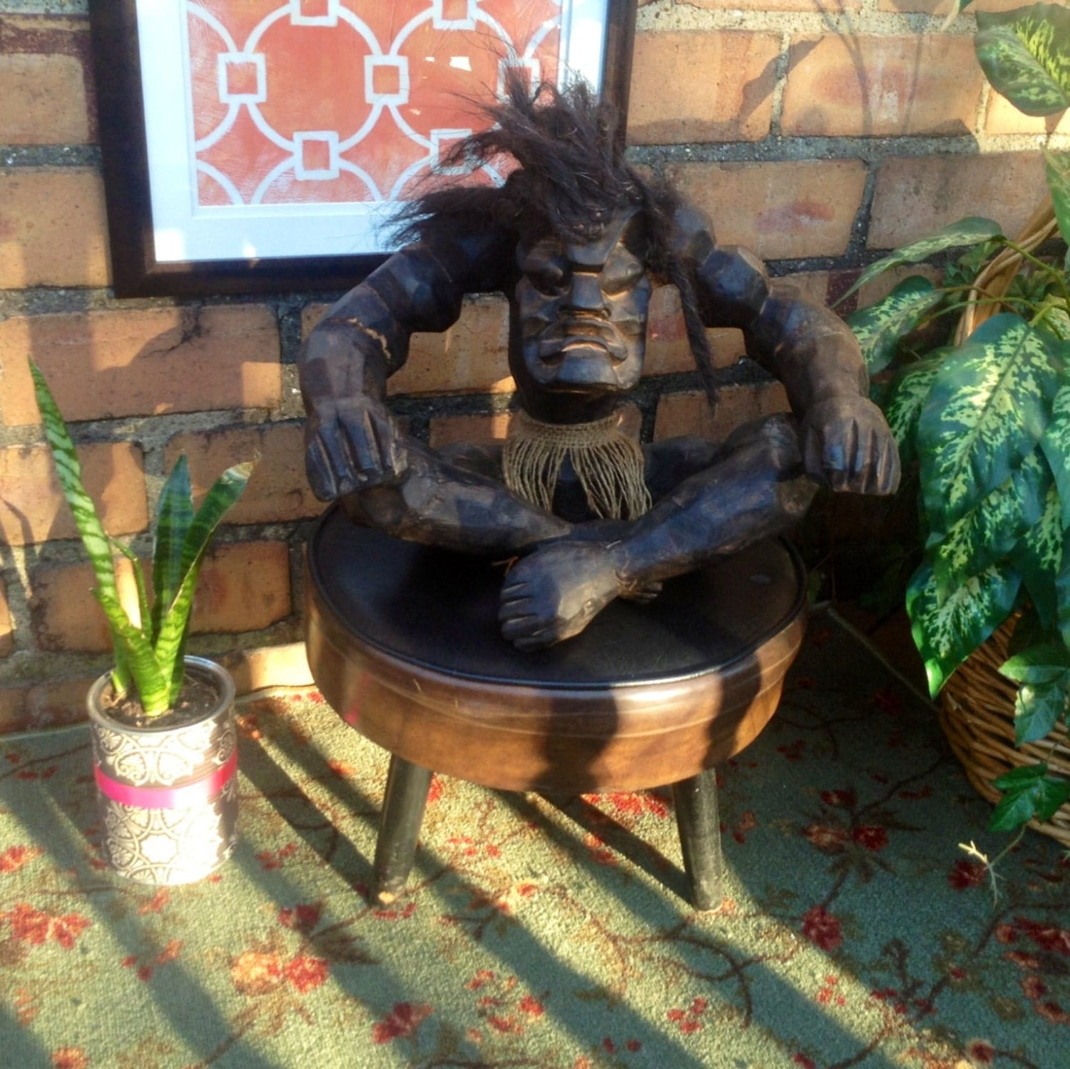 Wood Carved African Medicine Man African Witch Doctor