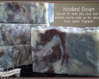 Woodland Escape - Rustic Suds Natural - Organic Goat Milk Triple Butter Soap Bar - 5-6oz. Each