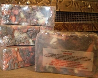 Natural Detoxifying Charcoal Soap Bar 5.25-5.75oz each - Orange