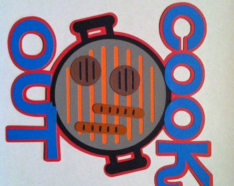 Cook Out Invitations,  Barbeque Invitations, Birthday Party Invitations Set of 8