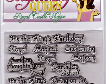 Clear Stamps... King's Birthday by The Scrapbooking Queen...