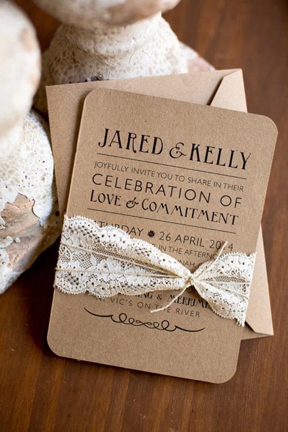 Rustic elegance printed or printable wedding invitations barn – Rustic Elegance Wedding Invitations
