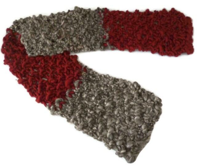 Chunky knit scarf, super chunky knit scarf, wool knit scarf, hand knit scarf, hand knitted scarf, super bulky scarf