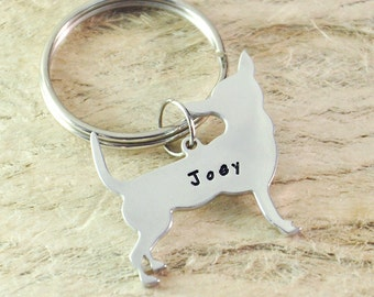 Chihuahua Dog Keychain Pet  Memorial Gift Pet Lovers Gift dog key chain dog charm dog pendant pet keychain 925 sterling silver