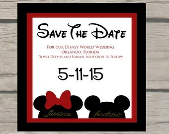 Disney Wedding Save the Date