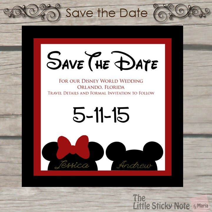 Preferred Disney Save The Date Magnets | Crazy Invitations NN33