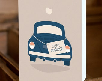 "GREETING CARD ""just married"""