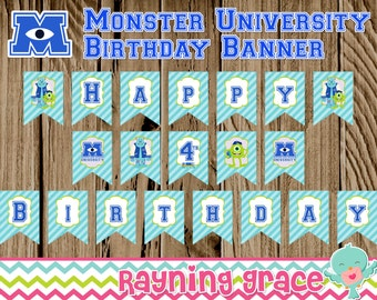 Monster University Birthday Banner