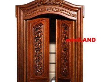 Pollinade Carved Double Door 1:12 scale Fine quality dollhouse miniature