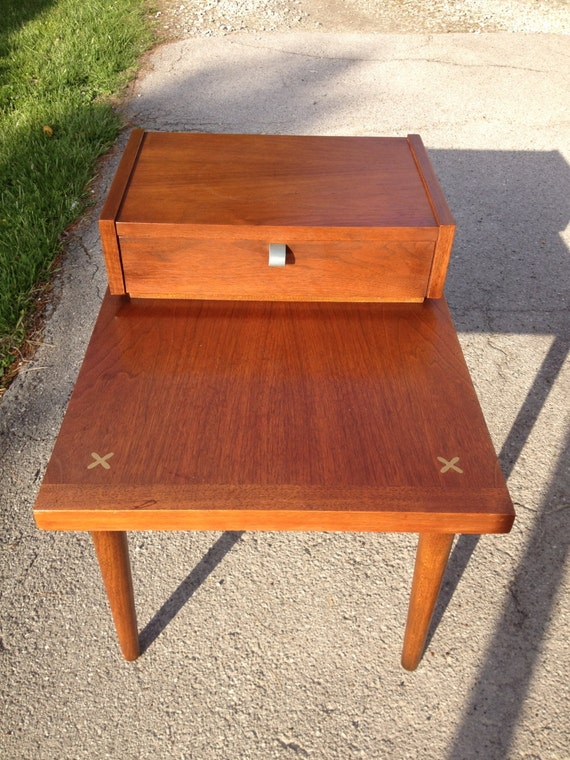 Walnut American Of Martinsville Vintage Step Table George