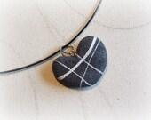 Heart gray pendant Choker...