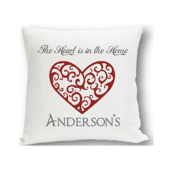 Personalized Heart Throw Pillow : Vintage Hearts Personalized Throw Pillow Personalized