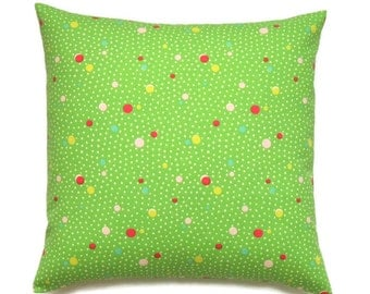 Green Pillow, 16x16 Pillow Cover, Throw Pillow, Decorative Pillow, Pillow Covers, Pillows, Home Decor, Cushion Covers, cm, Deco Dots