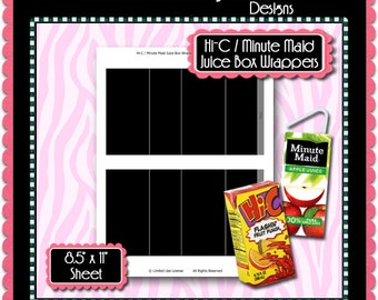 juice box wrappers etsy. Black Bedroom Furniture Sets. Home Design Ideas