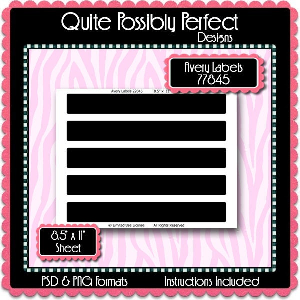 Wrap around avery 22845 labels template instant download psd zoom pronofoot35fo Gallery