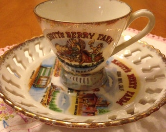 Seventies Knott's Berry Farm Souvenir Cup and Saucer
