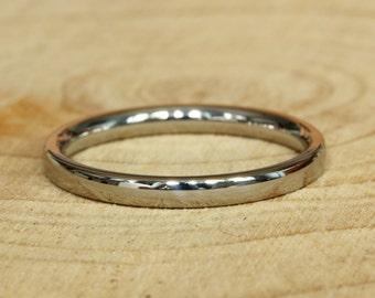 2mm Wide Comfort Fit / Court Shape 18k gold filled Plain band Wedding Ring