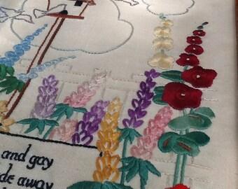Handmade Garden Gay Cross Stitch Art Piece