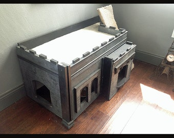 Custom made pet castle home From 2nd Time Charm Decor