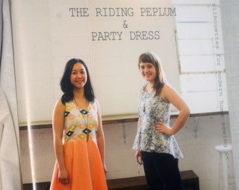 Sewing Pattern - The Riding Peplum and Party Dress by April Rhodes - Paper Pattern, Indie Sewing Designers
