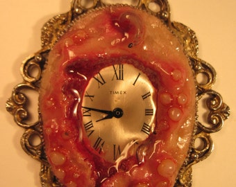 Infected Time Sculpture Necklace Handmade