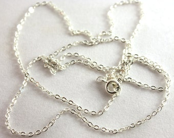 1x Silver Plated Soldered Cable Chain Finished Necklace - C032