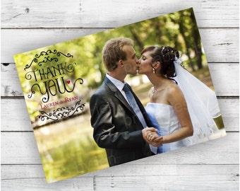 Wedding Thank you Card - DIY Printable File