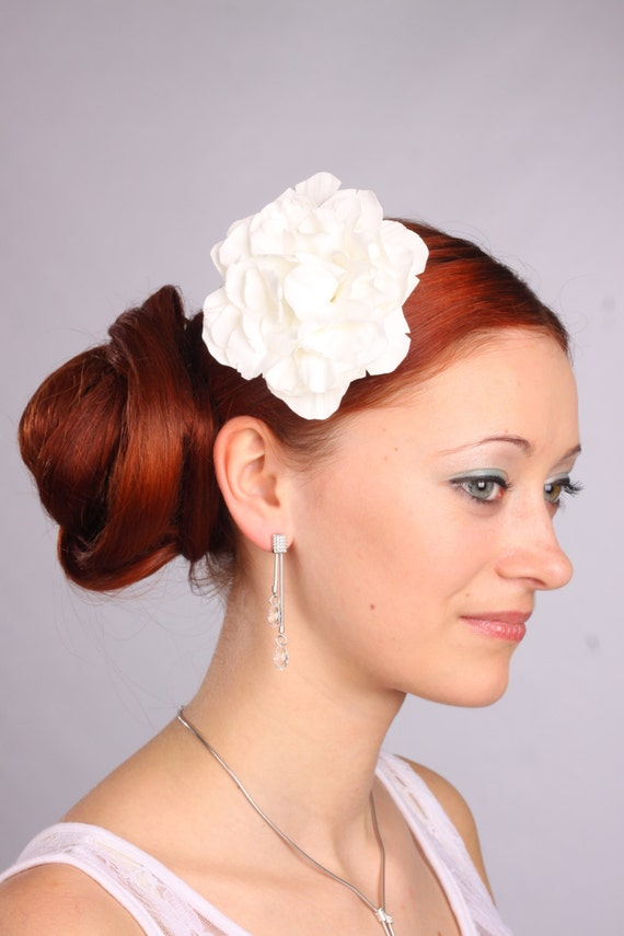 Accessories, hair clip, wedding flowers, white peony