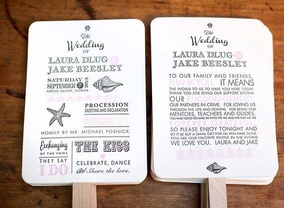 diy printable wedding program fans hand fan wedding program