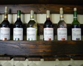 Wine Rack, Pallet Wine Rack, Unique Wine Rack, Wedding Gift, Rustic Shelf, Father's Day Gift, Wine Shelf, Wine, Wall Decor, Home Decor
