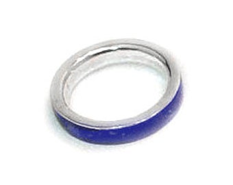 Sterling Silver & Lapis Lazuli Cleo Wide Band Ring Pair