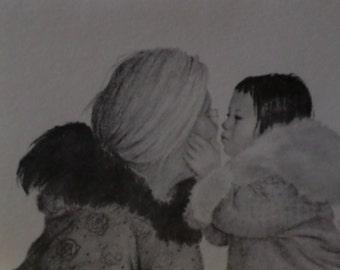 Adorable Inuit Eskimo Card