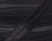 Black Fold Over Elastic - Elastic For Baby Headbands and Hair Ties - 10 Yards of 5/8 inch FOE