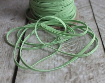Mint Skinny Elastic 1/8 inch - Elastic For Baby Headbands - 5 Yards