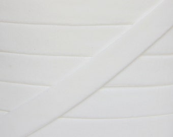 White 5/8 inch Velvet Elastic - Elastic For Baby Headbands and Hair Ties - 5 Yards of 5/8 inch Velvet FOE